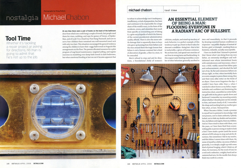 Tool Time,  Details Magazine