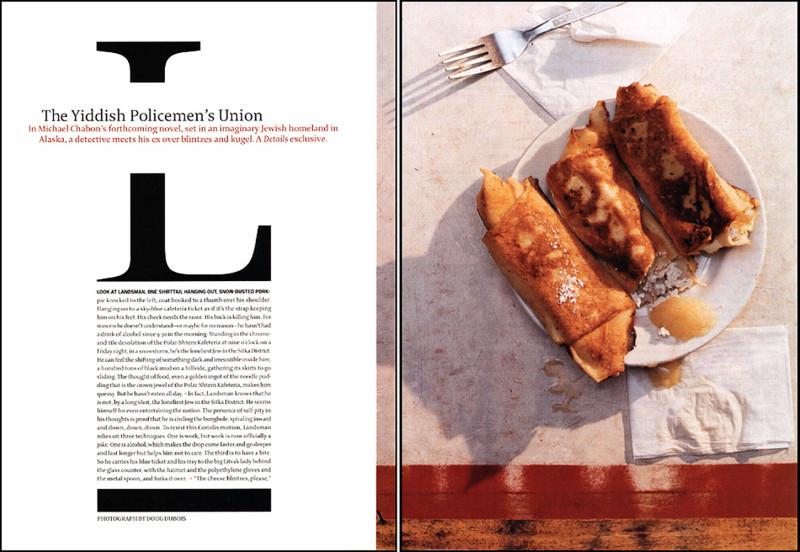 The Yiddish Policeman's Union,  Details Magazine