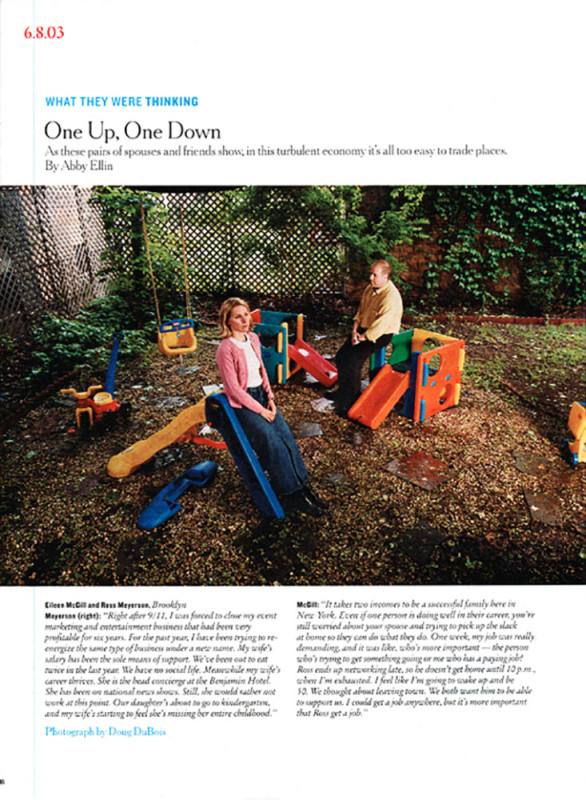 One Up, One Down,  New York TImes Magazine