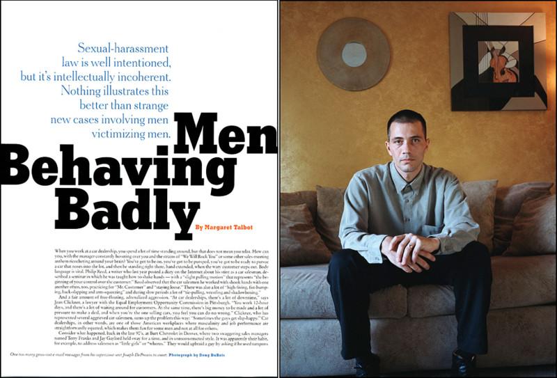 Men Behaving Badly,  New York TImes Magazine